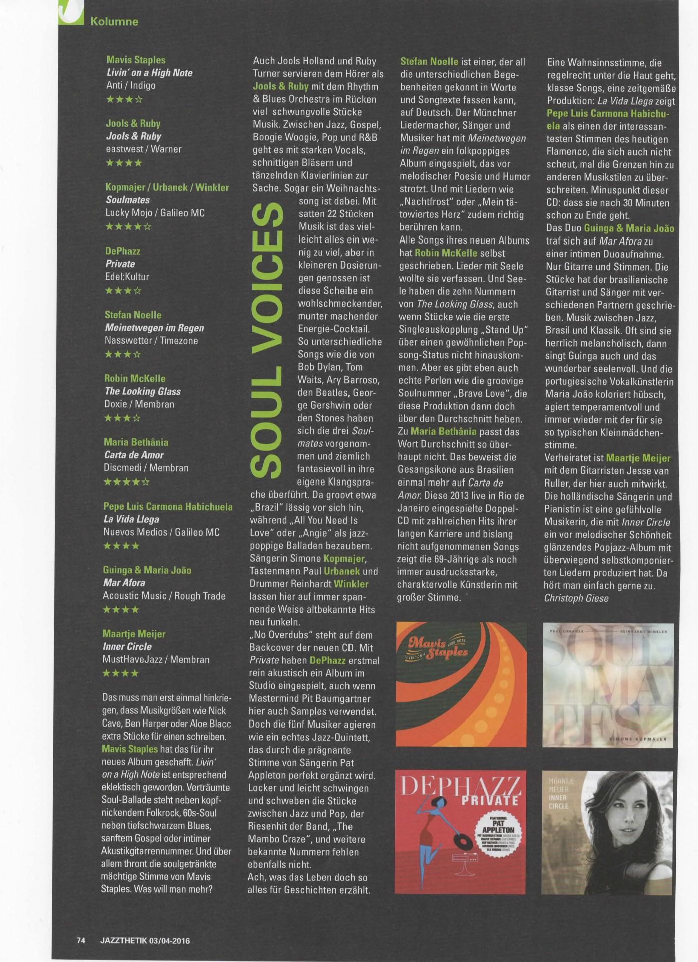 Jazzthetik Inner Circle 03-04.2016 Soul Voices